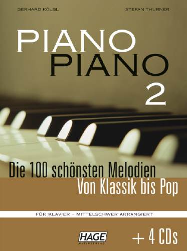 Hage PIANO PIANO 2 mittelschwer + 4 CD´s EH3743